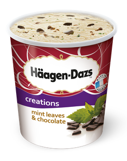 Häagen-Dazs Eiscreme Mint Leaves Choclate<sup>c,f,g,9</sup>